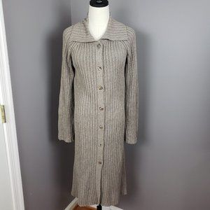 Margaret O'Leary Brown Long Ribbed Duster